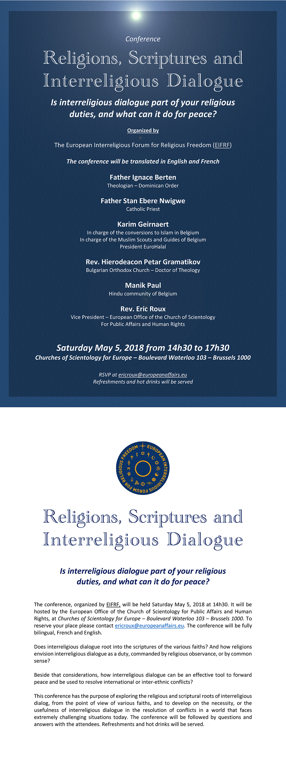 Conference - Religions, Scriptures and Interreligious Dialogue