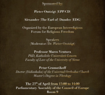 Conference Freedom of Conscience: the tensions between laicity and religious minorities in State/families issues
