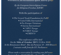 Event : A cause for concern in Europe - 16 October 2013 - Brussels