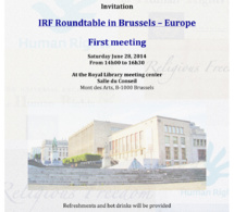IRF Roundtable in Brussels – Europe - First meeting