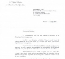 French Presidency's answer to multi-signatories letter to French politicians